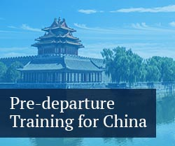 pre-departure training for china
