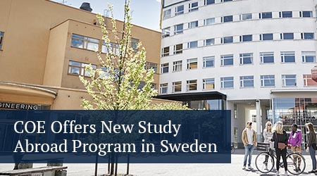 c o e offers new study abroad program in sweden