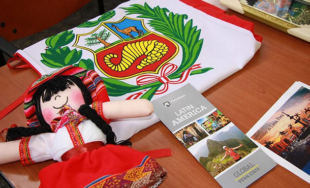 peruvian items on display at study-abroad fair