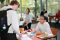 students at study abroad fair