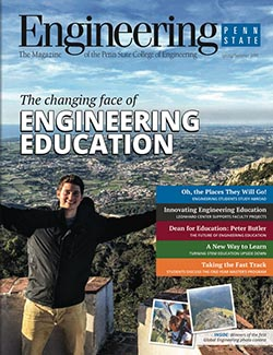 cover of spring summer 2016 issue of engineering penn state magazine